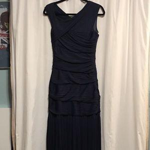 Halston Heritage Blue Maxi Dress